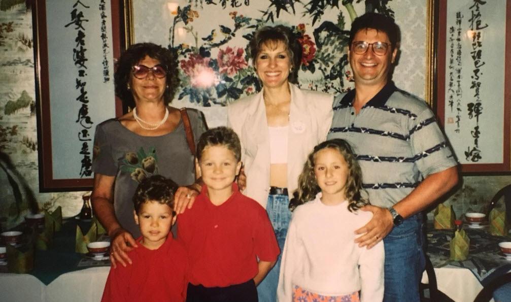 La famiglia Tomassoni al completo