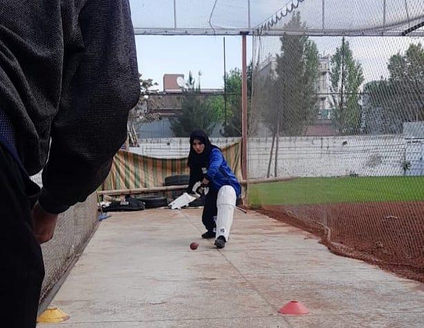 Roya Samim batting