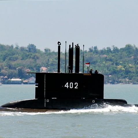 Indonesian Navy submarine KRI Nanggala-402 during a mission