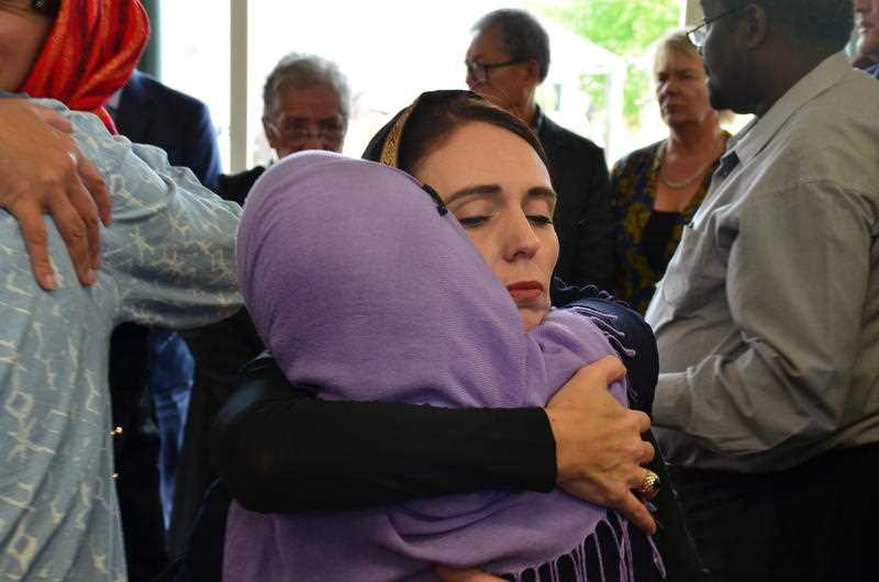 New Zealand Prime Minister Jacinda Ardern meets with members of the Muslim community in the wake of the mass shooting at the two Christchurch mosque.