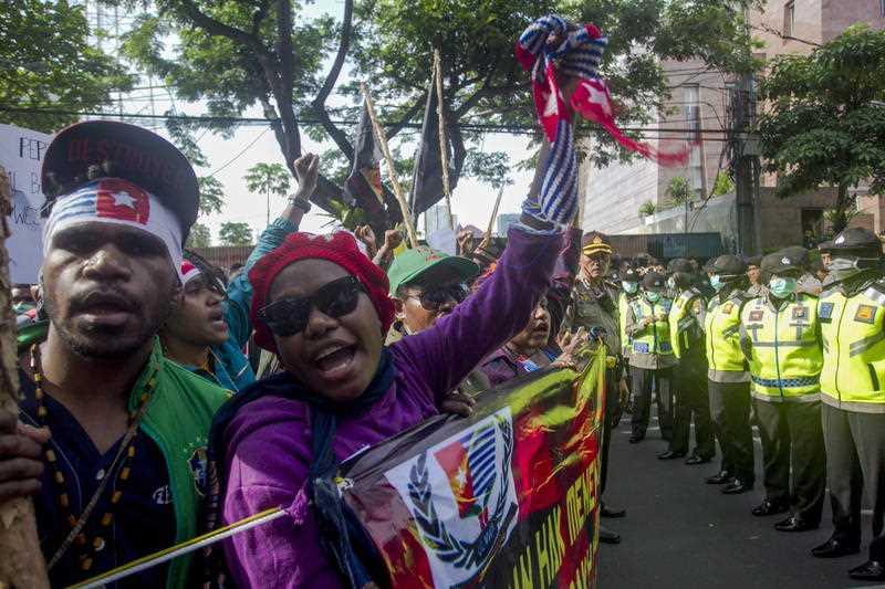 Dozens of West Papuan activists in Java.