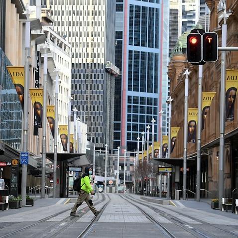 2021年7月17日土曜日、シドニーの中央ビジネス地区の概観。