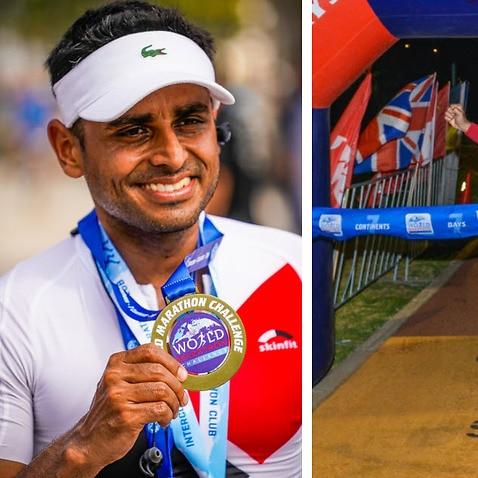 Aditya Raj became the first Indian to complete World Marathon Challenge.