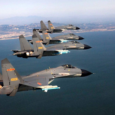 Twenty-eight Chinese air force aircraft, including fighters and nuclear-capable bombers, entered Taiwan's air defence identification zone (ADIZ).