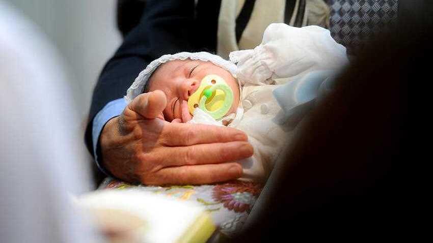 A Jewish circumcision ceremony in San Francisco
