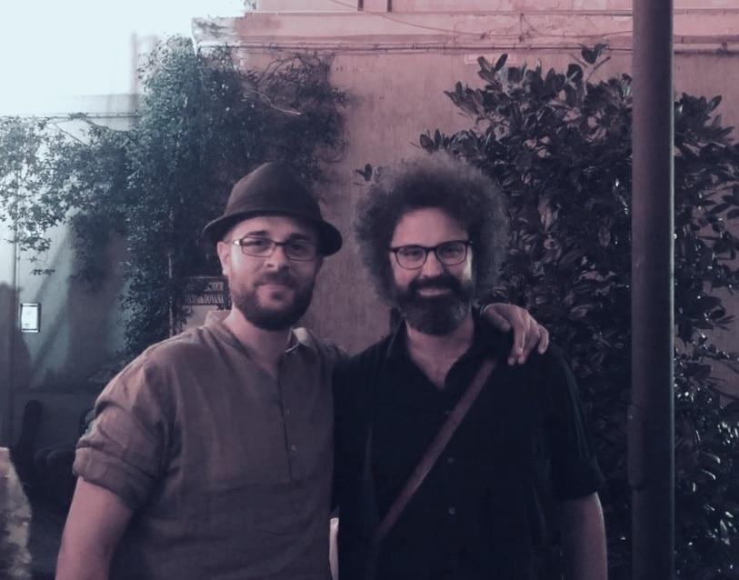 Lorenzo Santangelo con Simone Cristicchi