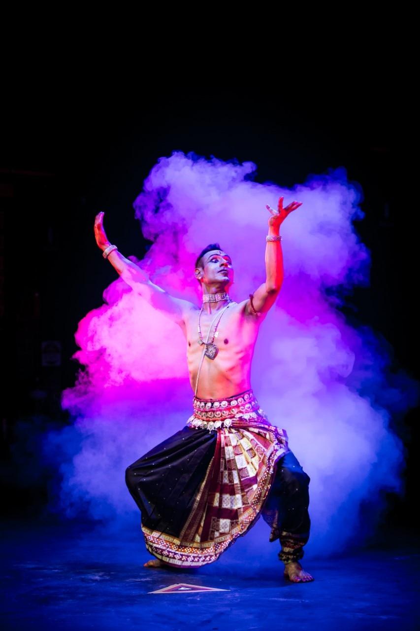 Odissi dancer Sam Goraya in one of his performance