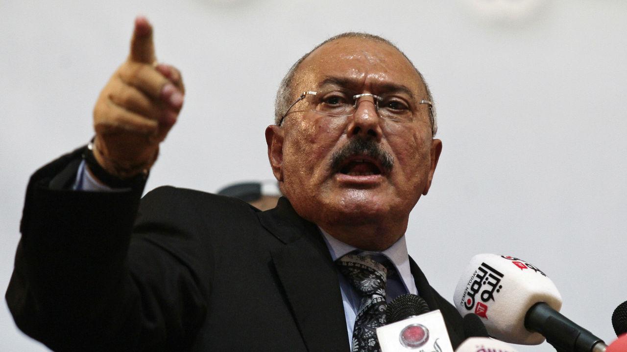 Former Yemeni president Ali Abdullah Saleh.
