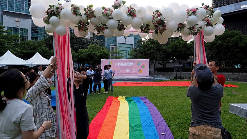 Image for read more article 'Taiwan holds first gay marriages in historic day for Asia '