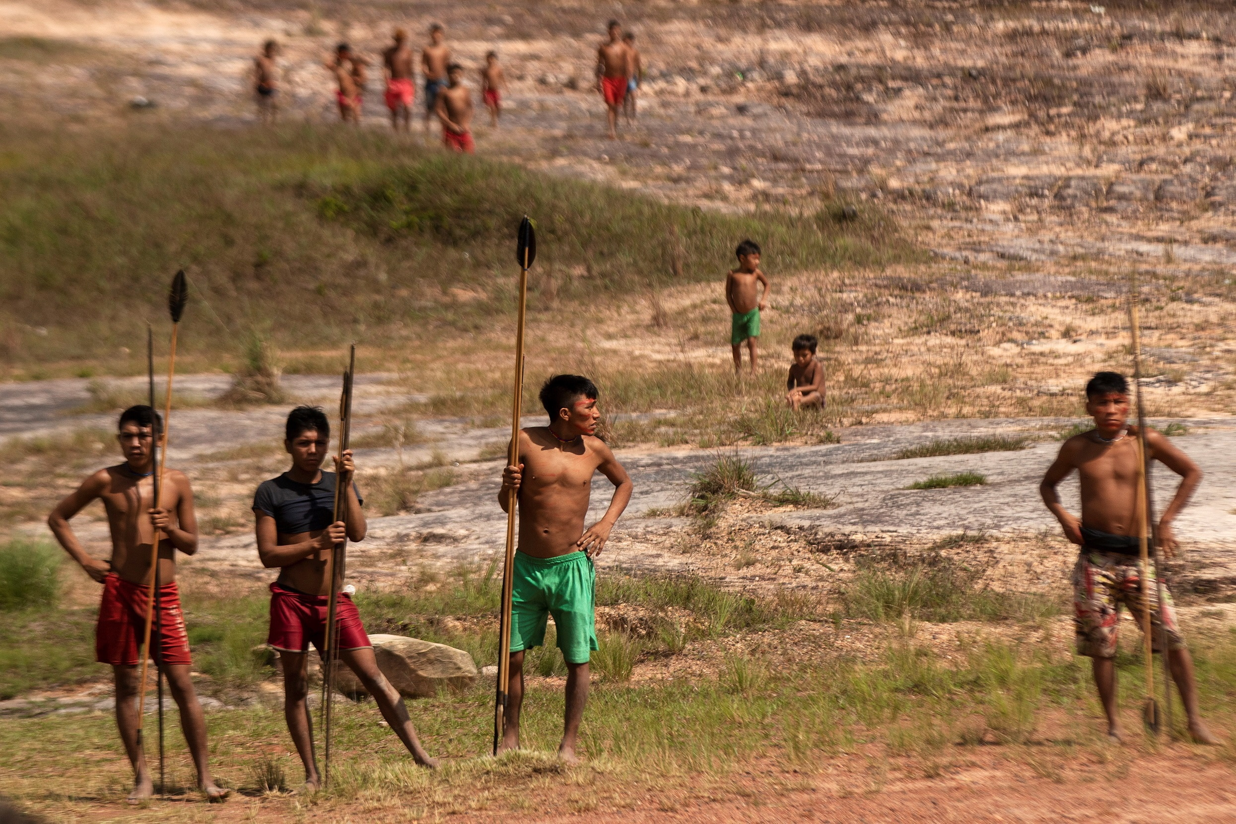 Members of the Yanomami people in northern Brazil.