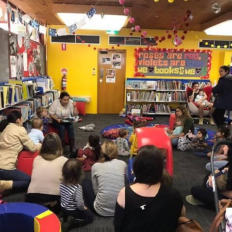 Cuentacuentos en la librería de Saint Kilda