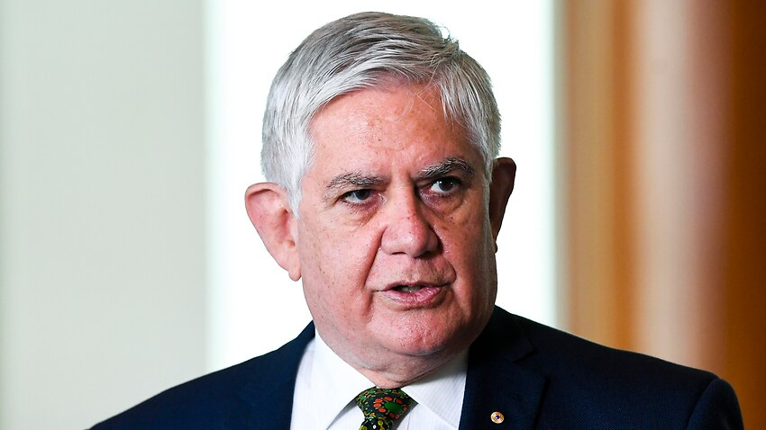 Minister for Indigenous Australians Ken Wyatt speaks to the media during a press conference at Parliament House in Canberra
