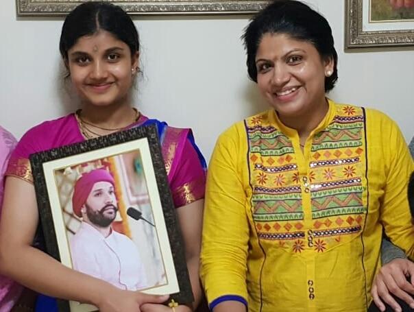 Sanya Singhal with Kalyani Singhal