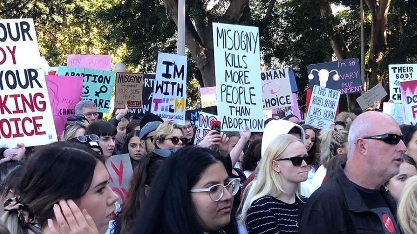 'Abortion is healthcare': Hundreds rally in Sydney over fears of US-style abortion bans