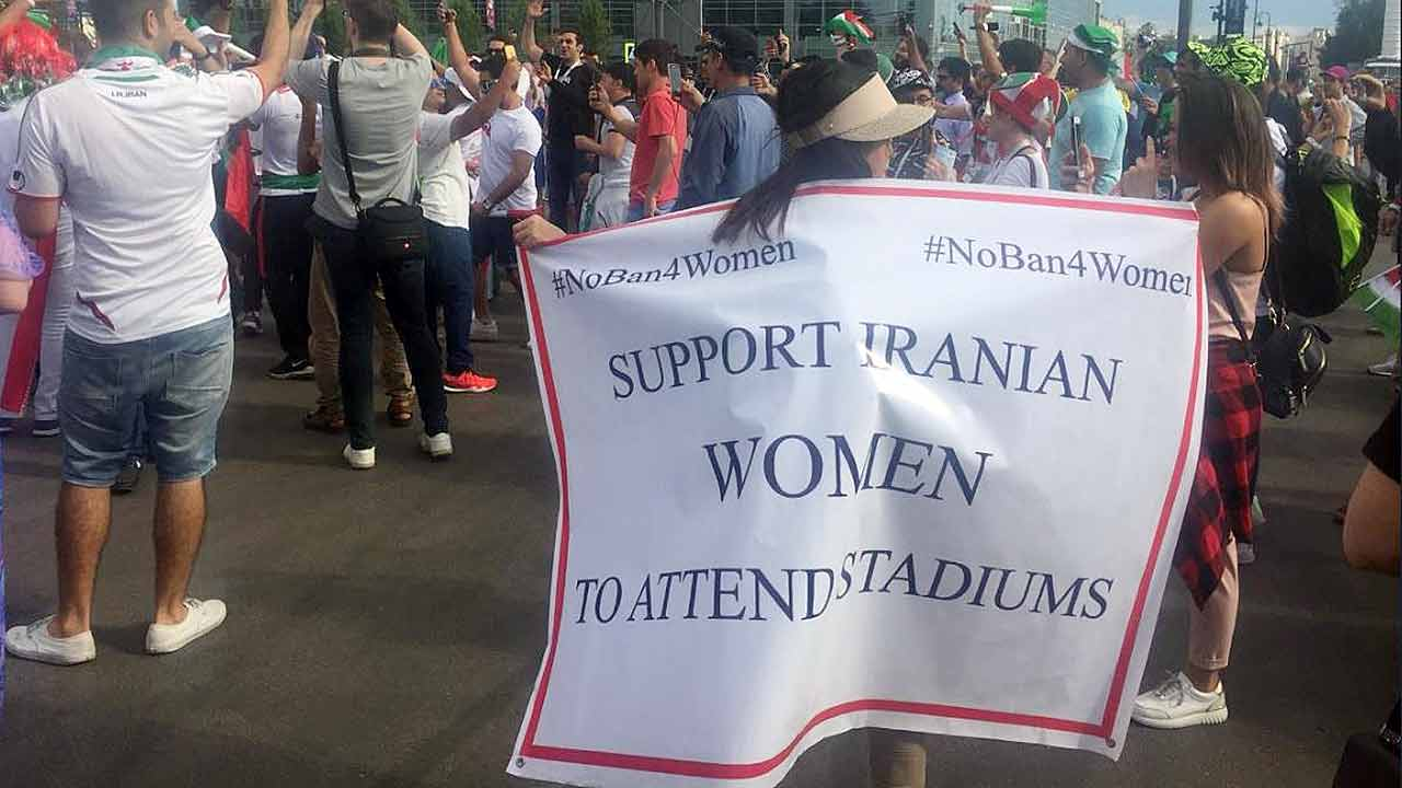 The #NoBan4Women campaign has been vocal in raising the issue of women in Iran.