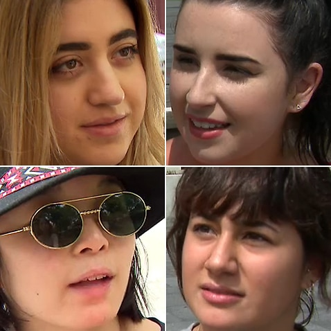 Young women in Sydney's CBD