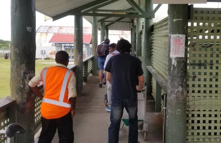 Asylum seekers leave Manus Island.
