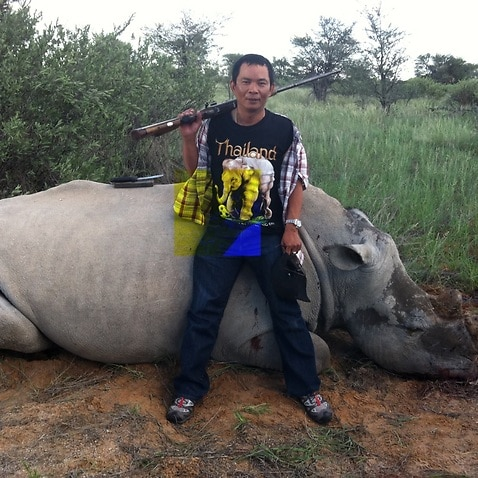 In a photo provi­ded by Julia­n Radem­eyer, Chuml­ong Lemto­ngtha­i, a Thai natio­nal convi­cted in South Afric­a in a rhino­-hunt­ing schem­e.