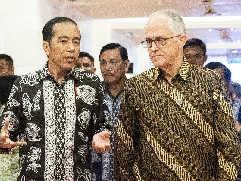 Indonesia President Joko Widodo and Malcolm Turnbull
