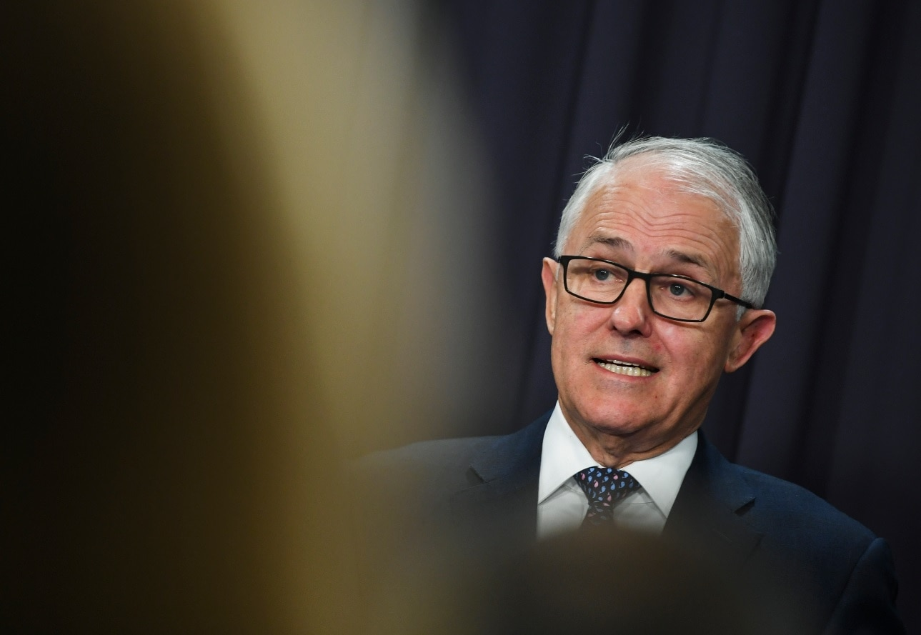 Australian PM Malcolm Turnbull on leadership contest