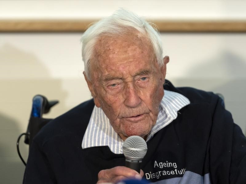 104-year-old Australian scientist David Goodall (file image)