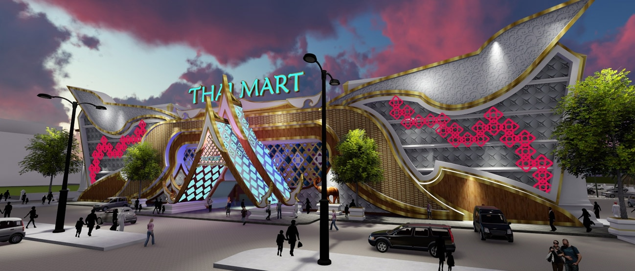A mock-up of Thai Mart Bahrain, as featured on its website.