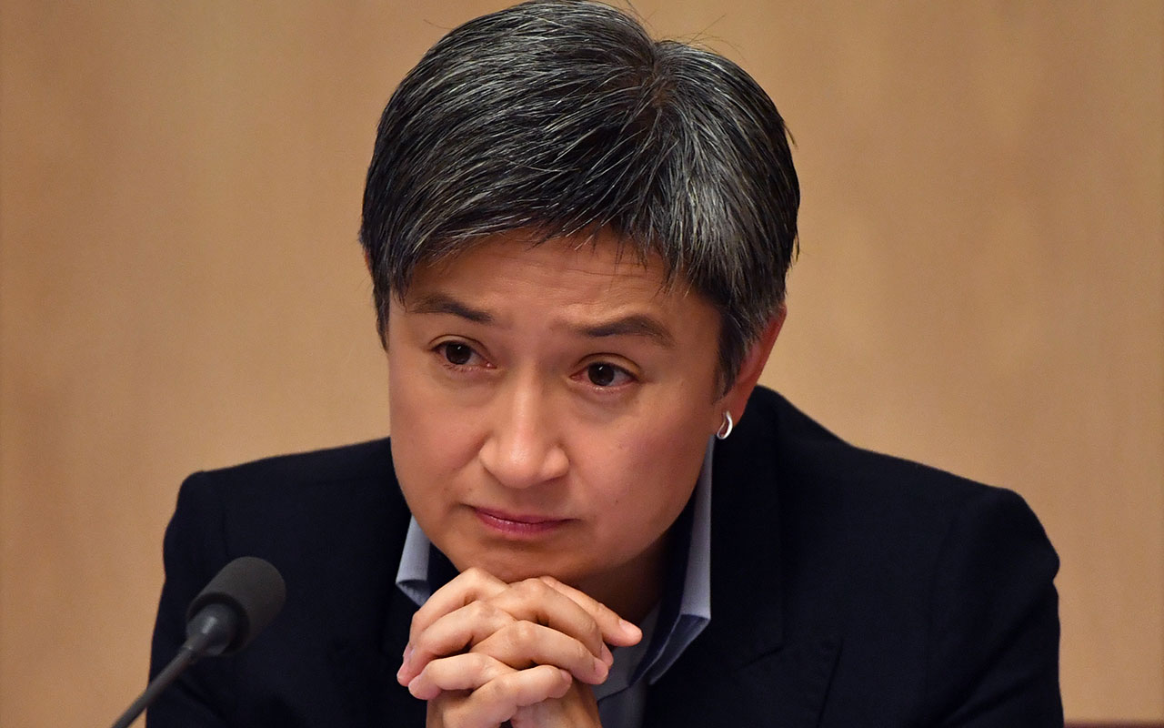 Shadow Minister for Foreign Affairs Penny Wong at the Senate Estimates hearing at Parliament House in Canberra.