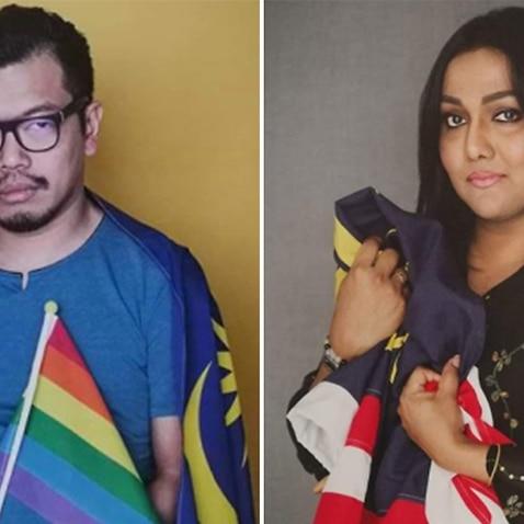 Transgender activist Nisha Ayub and gay rights activist Pang Khee Teik