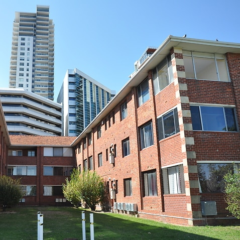 Low-rise apartment block in Perth