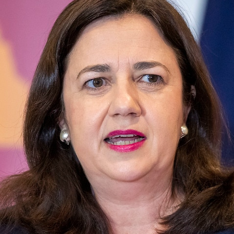 Queensland Premier Annastacia Palaszczuk speaks to the media during a press conference in Brisbane Tuesday