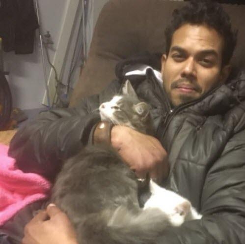 Guru with his cats