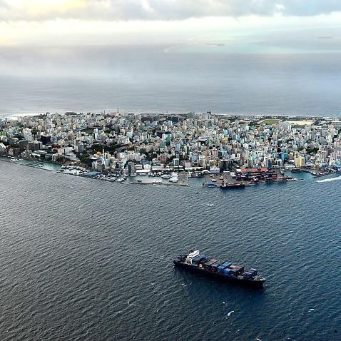 The Maldives' capital of Male