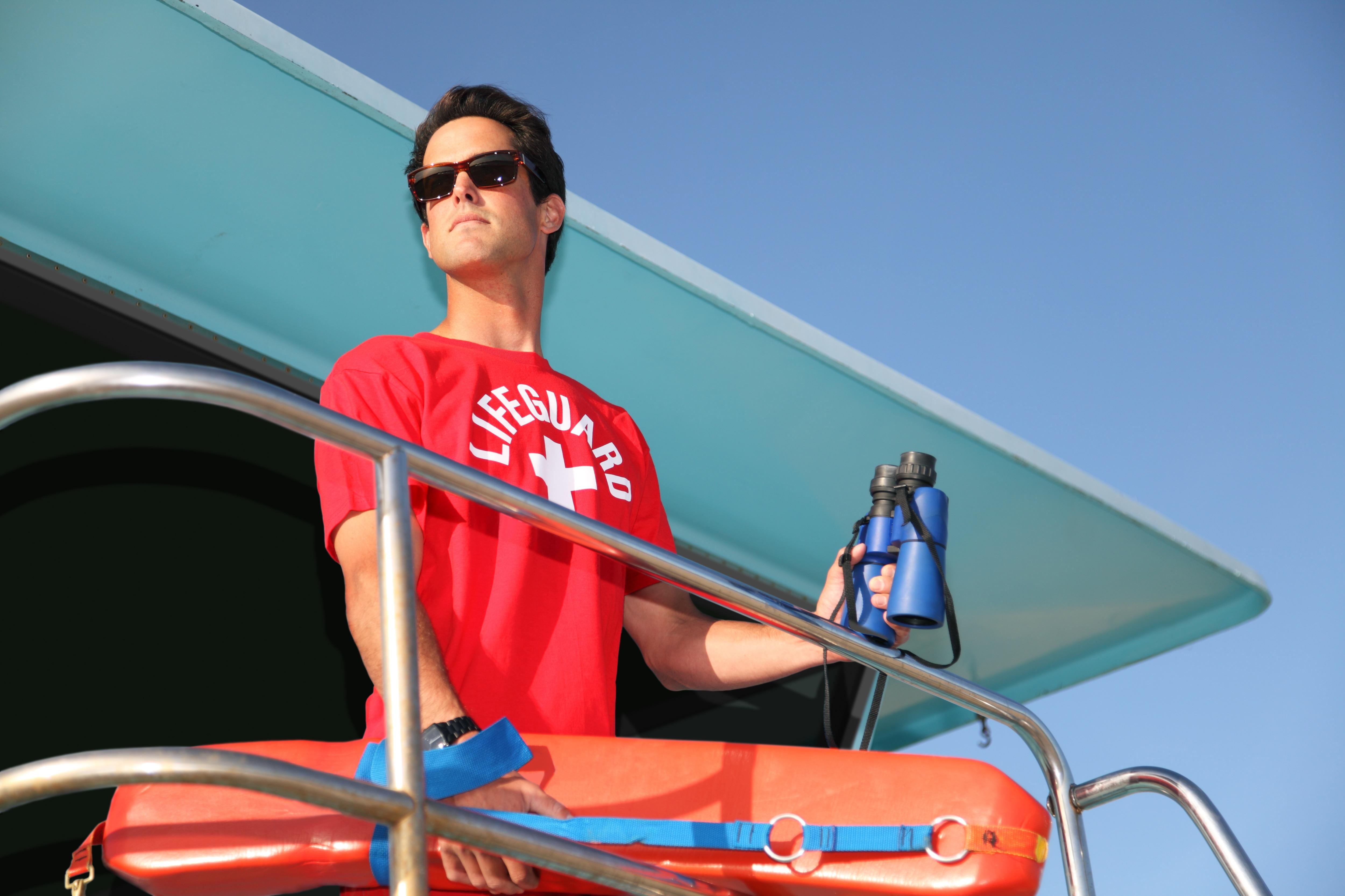 Beach Lifeguard On Tower