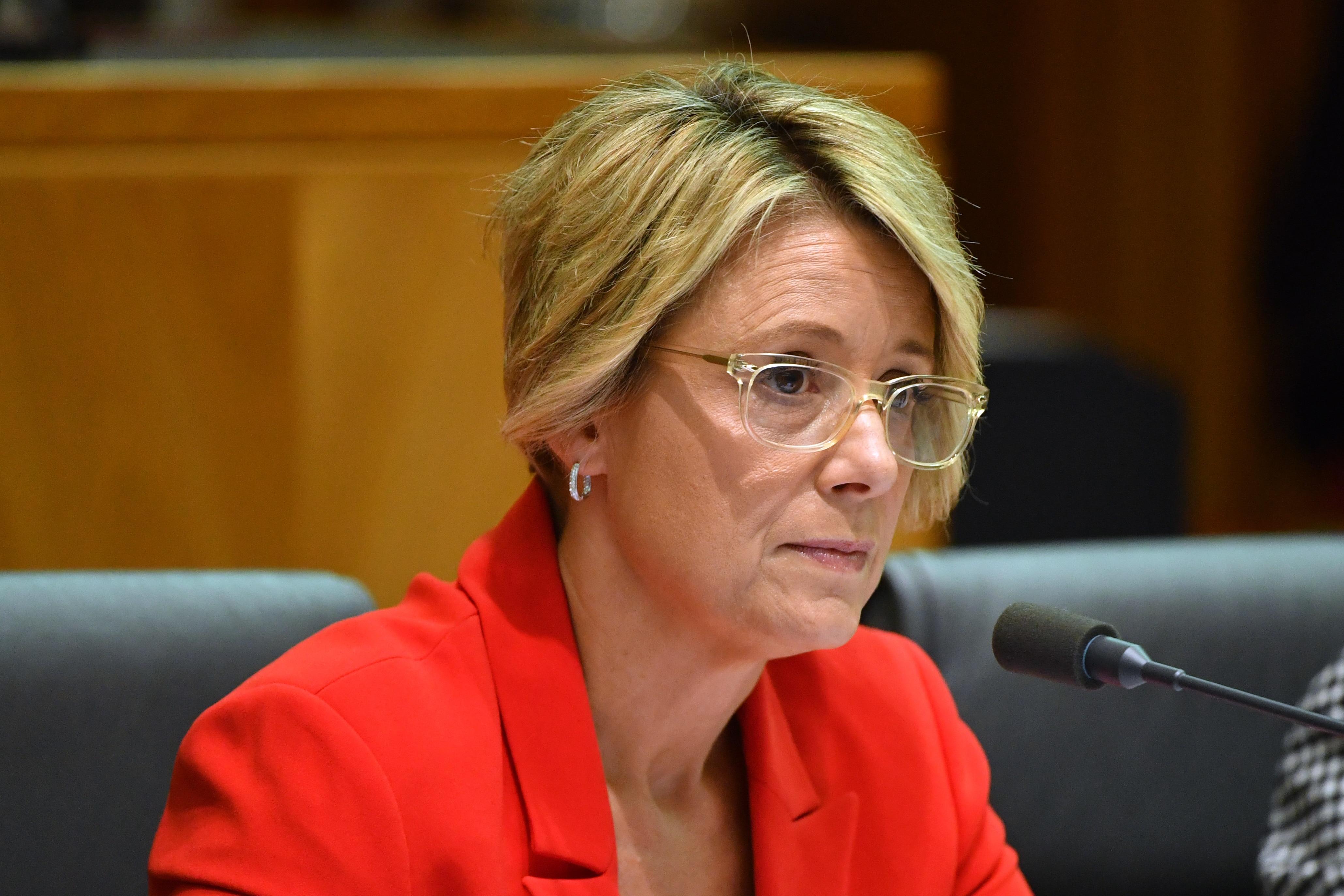 Labor Senator Kristina Keneally at a Senate Estimates hearing at Parliament House in Canberra, Monday,