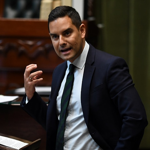 NSW Member for Sydney Alex Greenwich speaks (AAP)