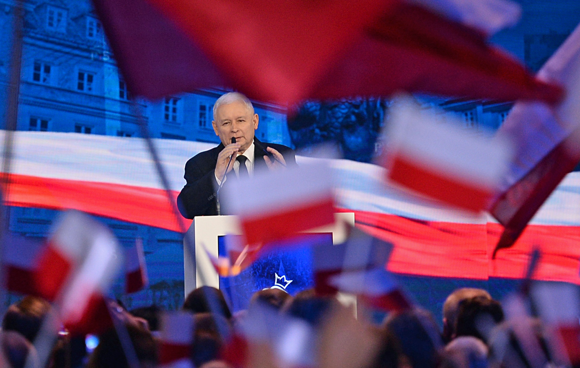Jaroslaw Kaczynski, leader of the ruling Law and Justice party (PiS).