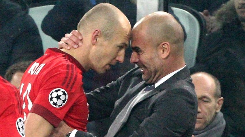 Robben names Guardiola his best ever coach