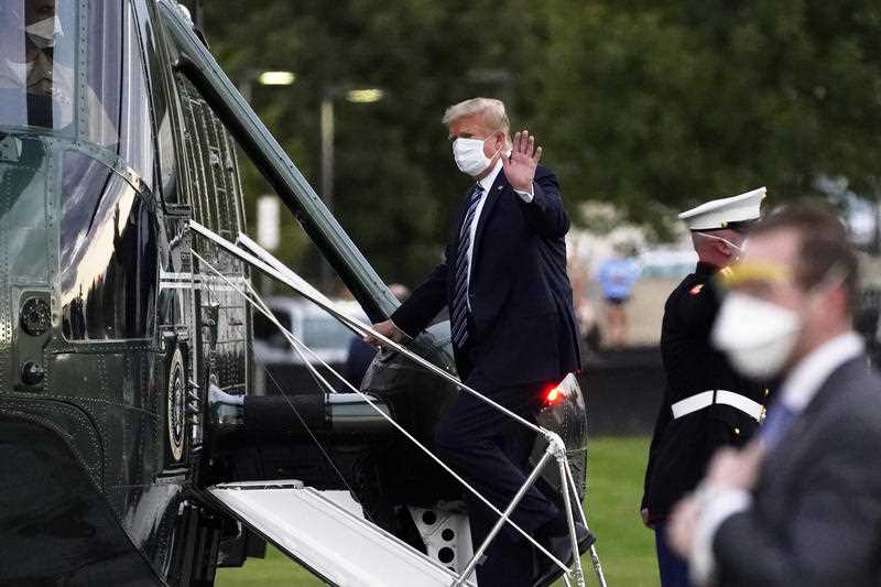 Donald Trump announced he had contracted COVID-19 in early October.