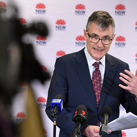 NSW Health Executive Director of Health Protection Dr Jeremy McAnulty speaks to the media in Sydney, Sunday, May 17, 2020. (AAP Image/Joel Carrett) NO ARCHIVING