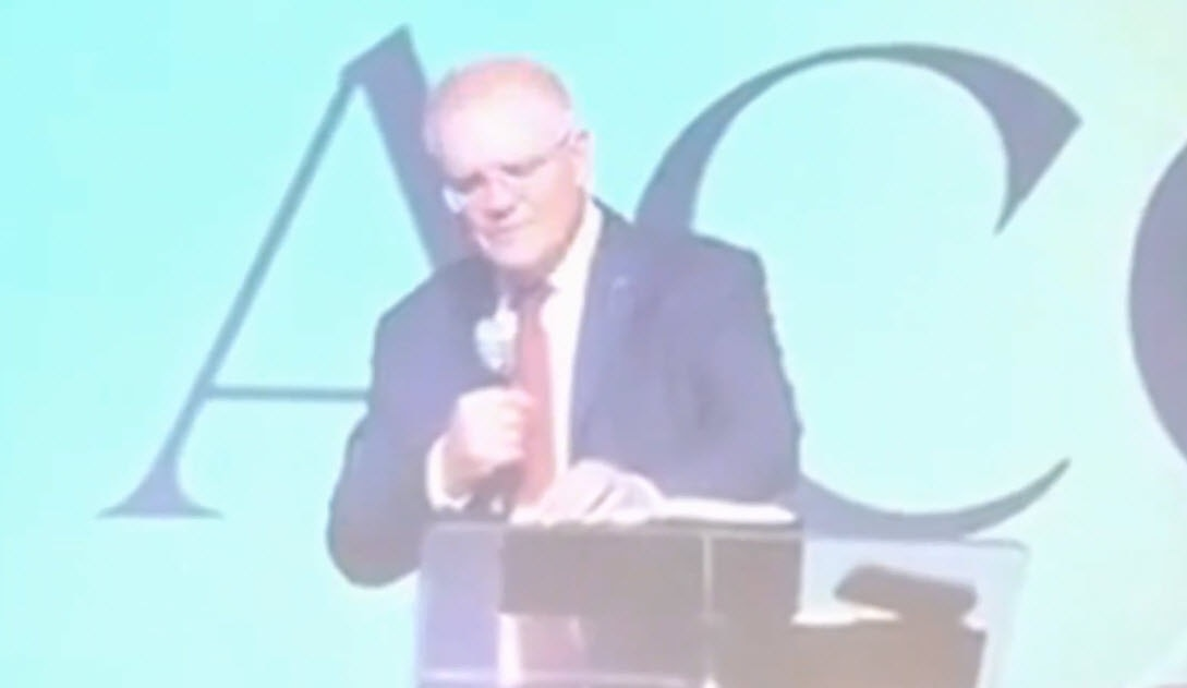 """In the speech, Scott Morrison revealed he sometimes used the Evangelical practice of """"laying on hands"""" while embracing people who had suffered from trauma."""