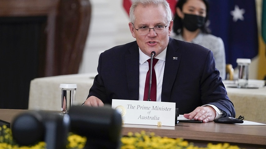 Australian Prime Minister Scott Morrison has met with the other leaders of the Quad alliance to talk about topics including clean energy.