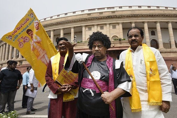 The Indian MP tries his hand as a wizard as part of an earlier protest.