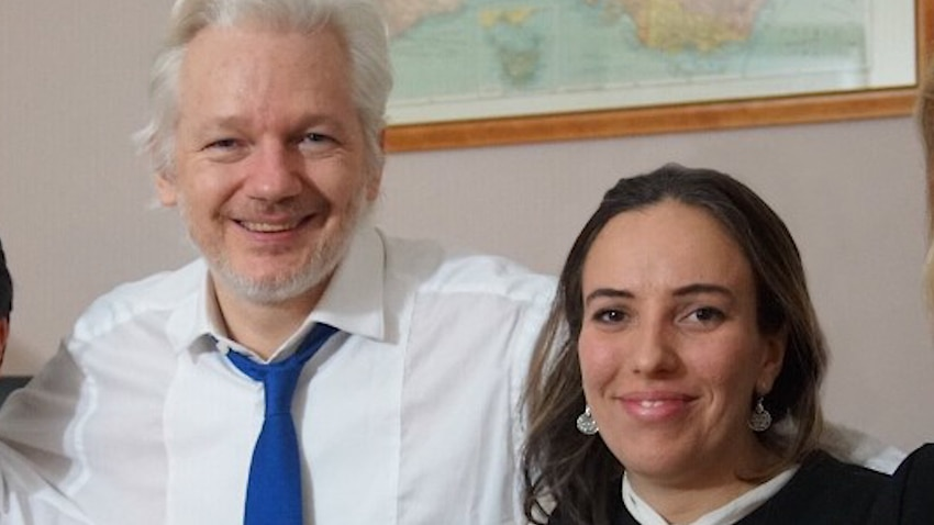 Julian Assange and his partner Stella Moris-Smith Robertson, who is pleading for the WikiLeaks founder to be freed from prison.