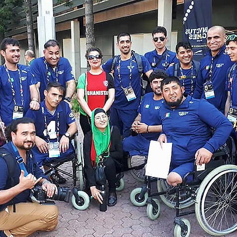 Some of the Afghan Invictus team in 2018