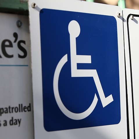 A disabled sign in Sydney (AAP Image/April Fonti)