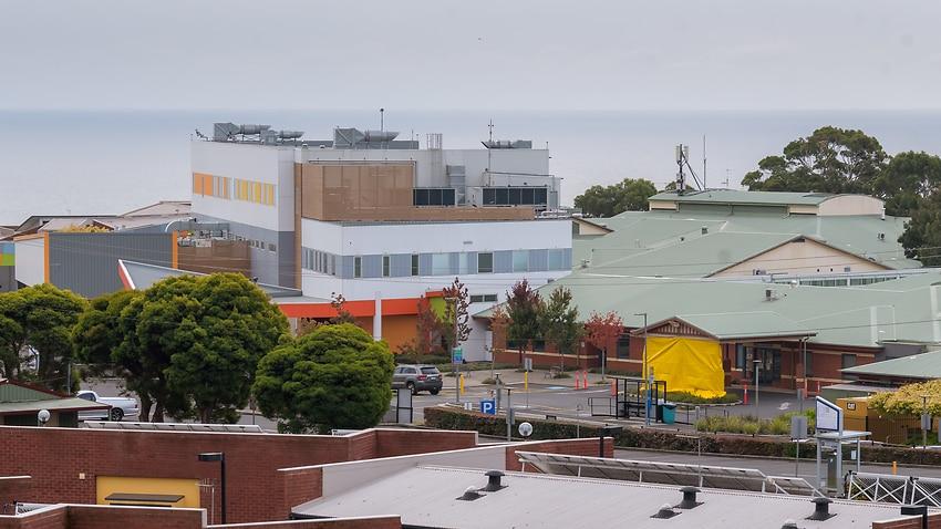 The North West Regional Hospital is seen closed in Burnie, Tasmania, Tuesday, April 14, 2020