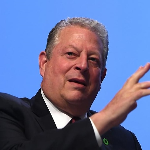 Former US vice president Al Gore was circumspect on Adani's mine at a Brisbane climate conference.