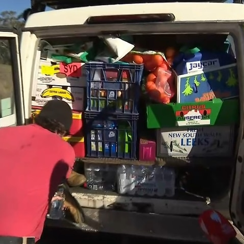 A van packed with goods for drought-affected farmers in regional NSW.