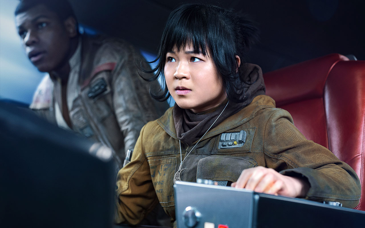 Kelly Marie Tran as Rose and John Boyega as Finn
