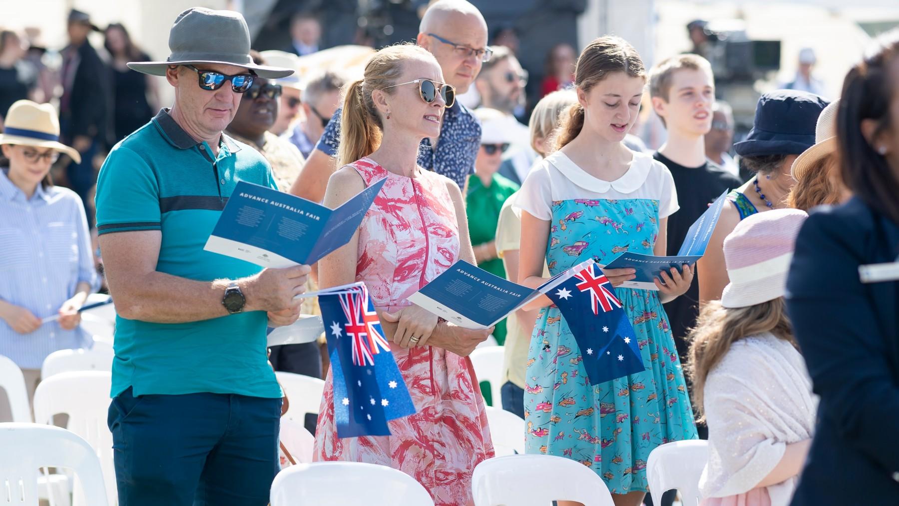 Australian Citizens, Citizenship ceremony